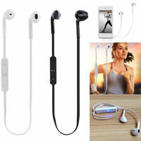 Wireless Bluetooth Sport Stereo Headset Headphone For Samsung Galaxy S7 S4 S8 +