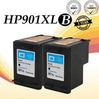 2PK 901XL Black Ink Cartridge For HP 901 Officejet 4500 J4500 J4524 J4660 J4680