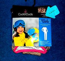 ANIMAL PRINT CUDDL DUDS GIRLS LONG JOHNS PANTS TOP SHIRT SET SIZE 4 - 5 XS NWT