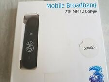 Three Mobile ZTE MF112 Mobile Broadband Dongle - Black