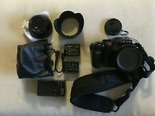 LEICA V-LUX 4 BLACK DIGITAL CAMERA w/ EXTRA BATTERY & Macro lens