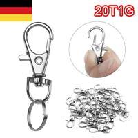 20x Kleine Drehverschlüsse Für Schlüsselringe - Karabinerhaken Schlüsselanhänger