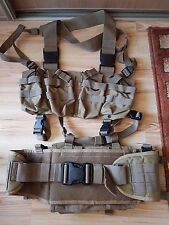 Warrior Assault System Coyote Tan Chest Rig With Belt