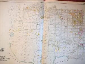 Brooklyn, NY atlas map - Original - Bromley 1908 - plate 41  linen East New York