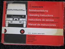 Magirus-Deutz Betriebsanleitung Haubenfahrzeuge mit V-Motor (D/GB/F/ES) 1977