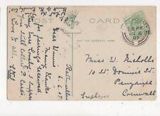 Miss Winnie Nicholls St Dominic Street Penzance 1907 425a