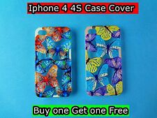 Buy one Get one Free iPhone 4,4S Case Cover Protector Matte Hard (D04) Brand New