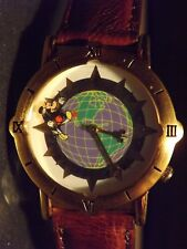 Mens Vintage Disneyland Mickey Mouse Watch (Around the World)(Mickey Seconds)New