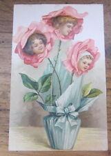 Cartolina d'epoca in rilievo Bambini- primi '900 - postcard - tarjeta -