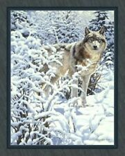 Wolf Winter Spirit Quilt Top Wall Hanging Panel Fabric Digital Print Wildlife