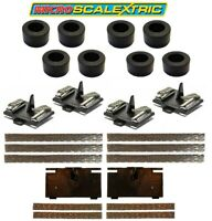 Micro Scalextric 1:64 Replacement Tyres Braids & Latest Guide Plate Pickup NEW
