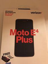 Verizon Wireless Prepaid Moto E4 Plus Black Touchscreen Smartphone 13MP Camera