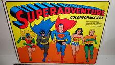 Superadventure Colorform Set mib!!!!!!1974 Robin,Batman,Superman,Aquaman. RARE!!