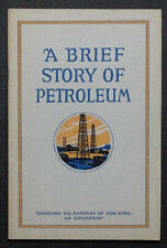1927 Vintage SOCONY GAS / STANDARD OIL of New York HISTORY OF PETROLEUM Adv Book