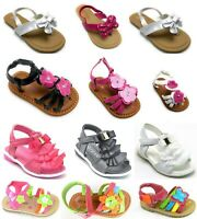 Toddler Girls Summer Gladiator Flat Sandal T-Strap Thong Shoes Sz 5-10