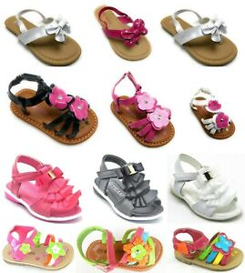 Toddler Girls Summer Gladiator Flat Sandal Butterfly Thong Shoe Sz 5-10