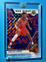 Zion Williamson RARE BLUE REACTIVE PANINI MOSAIC PRIZM 2019-20 HOT RC - Mint!