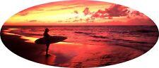 """4x4 Oval Camper Graphic Vinyl Sticker Surfer Surfing AA71 25"""" x 58"""""""