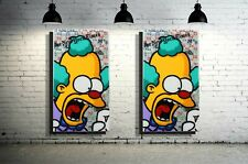Krusty Cartoon Character Wall Art x Resin Artwork x Acrylic Paint on Wood