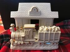 Lenox Train At The Station Votive Tealight Candle Holder Porcelain W/Gold Trim