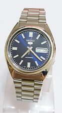 SNXS77K1 SEIKO 5 Stainless Steel Band Automatic Men's Blue Watch Brand New !!