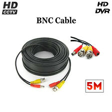 5 Meter BNC Cable Video & Power Lead for CCTV Cameras DVR Simple Installation