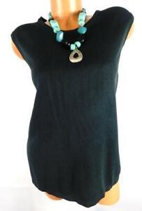 Kathie lee black plus size sleeveless scoop neck sweater top 22W/24W