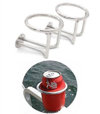 Pair- Marine Stainless Steel Ring Drink Cup Holder for Boat/Camper/Truck RV/SUV