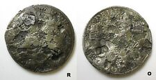 8 reales silver coin with many chopmarks - late 1700's to 1800's chop marks