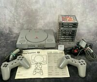 Sony PlayStation PS1 SCPH-5552 Console + Official Controllers & 10 Game Bundle