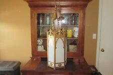Antique Vintage NL Corp. Brass Hanging Gothic Pendant Church Light #3116