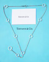 Tiffany & Co Sterling Silver Circle Link Lariat Necklace