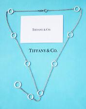 Tiffany & Co Plata Círculo Eslabón Collar Lariat