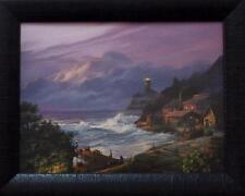 Michael Humphries Sunset Fog Lighthouse Print-Framed 19 x 15
