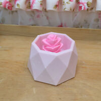 3D Flower Pot Silicone Mold DIY Handmade Diamond Concrete Succulent Planter