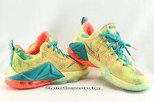 Nike Lebron XII Low PRM Lebronald Palmer - SIZE 9 -NEW- 776652-383 Lime 12 Mango