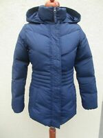 Timberland Winter Daunen Jacke Mantel feste Kapuze dunkelblau Gr.XS/S NEU (Z66)
