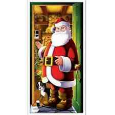 Door Cover Santa BE20012 Party Decoration Christmas Scene Setters Props Cutouts