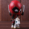 Marvel Deadpool Action Figure Riding Version Bobble Head Collectible Model Toy