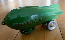 Antique kenton matériel pony dirigeable en fonte jouet zeppelin dirigeable années 1920 rare