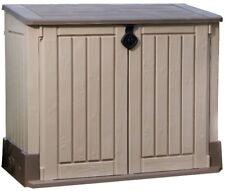 Storage Shed 4 ft. x 2 ft. 30 cu ft. Resin Lockable Double Door with Floor Panel