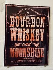 Bourbon Whiskey, Retro Vintage Signo de Metal de Aluminio Bar Pub Cueva de hombre signos de cerveza