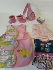 Baby Born Girl Doll Clothes  & Sleeping Bag Bundle