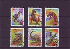 Tanzania Mi 1767-72 Dinosaur Animals 1994 Used C.W. 1,80 euro