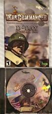 War Commander D-Day Pc Brand New Sealed plus 40 New Manual Free US Ship XP