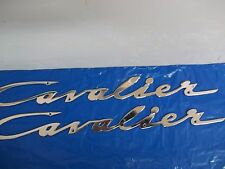 "PAIR OF Chris Craft Cavalier 17""  Logo Emblem Nameplate NOS 2"
