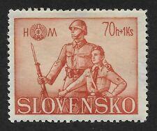 Slovakia 1942,Hlinka Youth Society 70 +1K Stamp (CX6)