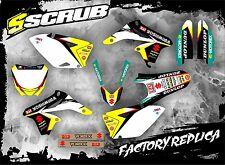 Suzuki graphics RMz 250 2007-2009 stickers motocross '07-'09 SCRUB decals kit