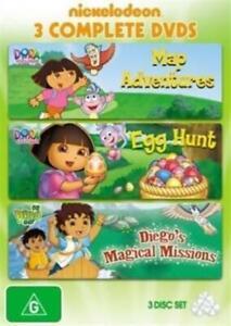 Dora The Explorer Map Adventures Egg Hunt Diego Magical Missions Region 4-NEW+SE