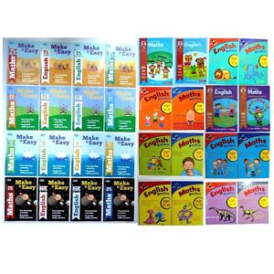 Maths & English Easy Learning Workbooks Home Schooling Children Age 3-11 years